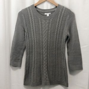 Croft & Barrow gray cable knit sweater XS